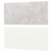 ЛИЗЕКИЛЬ Настенная панель, белый двусторонний белый, светло-серый под бетон, 119.6x55 см