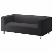 КЛИППАН Чехол на 2-местный диван, Кабуса темно-серый