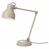 ХЕКТАР Лампа/устройств д/беспровод зарядки, бежевый