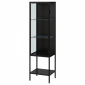 РУДСТА Шкаф-витрина, антрацит, 42x37x155 см