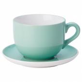 НОРДБИ Чашка чайная с блюдцем, светло-зеленый, 73 сл