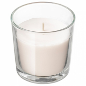 СИНЛИГ Ароматическая свеча в стакане, Сладкая ваниль, естественный, 7.5 см