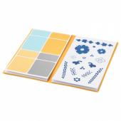 АНИЛИНАРЕ Папка с наклейками, белый, синий