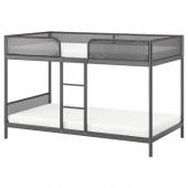 ТУФФИНГ Каркас 2-ярусной кровати,темно-серый