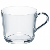 ИКЕА/365+ Кружка, прозрачное стекло, 36 сл
