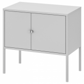 ЛИКСГУЛЬТ Шкаф, металлический, серый, 60x35 см