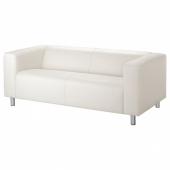 КЛИППАН 2-местный диван, Глосе/Бумстад белый