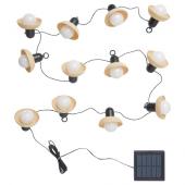 СОЛВИДЕН Гирлянда, 12 светодиодов, для сада на солнечной батарее, мини-фонарь бежевый