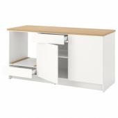 КНОКСХУЛЬТ Напольный шкаф с дверцами и ящиком, белый, 180 см