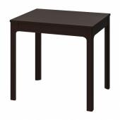 ЭКЕДАЛЕН Раздвижной стол, темно-коричневый, 80/120x70 см