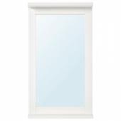СИЛВЕРОН Зеркало с полкой, белый, 36x64 см