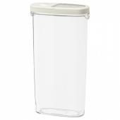 ИКЕА/365+ Контейнер+крышка д/сухих продуктов, прозрачный, белый, 2.3 л