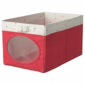 НОЙСЭМ Коробка, светло-красный, 25x37x22 см