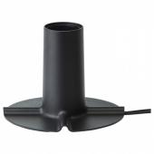 СКАЛЛЬРАН Основание настольной лампы, темно-серый/металл