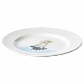 ХЕЛСТЕКТ Тарелка десертная, белый куриный, 21 см