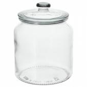 ВАРДАГЕН Банка с крышкой, прозрачное стекло, 1.9 л