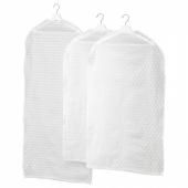 ПЛУРИГ Чехол для одежды, 3 штуки,прозрачный белый