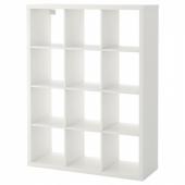 КАЛЛАКС Стеллаж, белый, 112x147 см