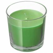 СИНЛИГ Ароматическая свеча в стакане, Яблоко и груша, зеленый, 7.5 см