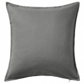 ГУРЛИ Чехол на подушку, серый, 50x50 см