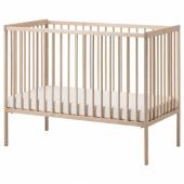 СНИГЛАР Кроватка детская, бук, 60x120 см