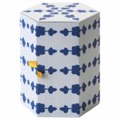 АНИЛИНАРЕ Декоративная коробка, белый, синий, 14x16 см