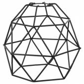 БРЮНСТА Абажур для подвесн светильника, черный, 20 см