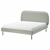 ВАДХЕЙМ Каркас кровати с обивкой, Гуннаред светло-зеленый, 160x200 см