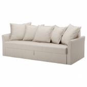 ХОЛЬМСУНД 3-местный диван-кровать, Нордвалла темно-бежевый