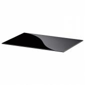 БЕСТО Верхняя панель, стекло черный, 60x40 см