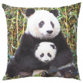 УРСКОГ Подушка, Панда разноцветный, 50x50 см