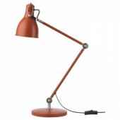 АРЁД Лампа рабочая,красно-коричневый