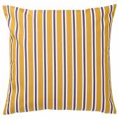 ФУНКЁН Чехол на подушку, д/дома/улицы, темно-желтый, фиолетовый, 50x50 см