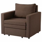 ВАТТВИКЕН Кресло-кровать, лерхага коричневый