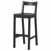 НОРДВИКЕН Стул барный, черный, 75 см