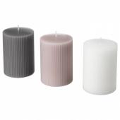 БЛОМДОРФ Формовая свеча, ароматическая, Гладиолус, серый, 10 см