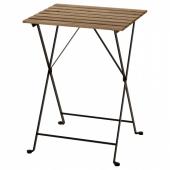 ТЭРНО Садовый стол,черный,серо-коричневая морилка