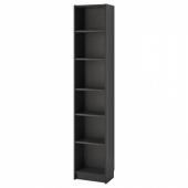 БИЛЛИ Стеллаж, черно-коричневый, 40x28x202 см