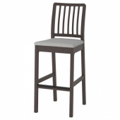 ЭКЕДАЛЕН Стул барный, темно-коричневый, Рамна Гуннаред Оррста классический серый светло-серый, 75 см