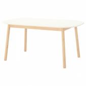ВЕДБУ Стол обеденный, белый, 160x95 см
