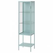 РУДСТА Шкаф-витрина, светлая бирюза, 42x37x155 см
