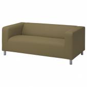 КЛИППАН Чехол на 2-местный диван, Висле желто-зеленый