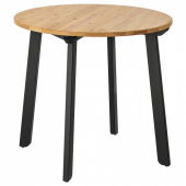 ГАМЛАРЕД Стол, светлая морилка антик, черная морилка, 85 см