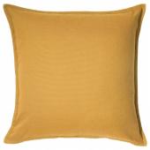 ГУРЛИ Чехол на подушку, золотисто-желтый, 50x50 см