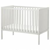 СУНДВИК Кроватка детская, белый, 60x120 см
