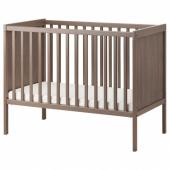 СУНДВИК Кроватка детская, серо-коричневый, 60x120 см