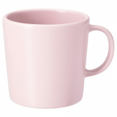 ДИНЕРА Кружка, светло-розовый, 30 сл
