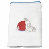ВЭДРА Чехол на пеленальную подстилку, орнамент «кролики», белый, 48x74 см