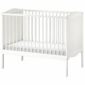 СМОГЁРА Кроватка детская, белый, 60x120 см