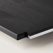 ИВАР Полка, черный, 83x30 см